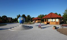 The playground in the 'sailing village' of Nowe Warpno